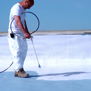 Coat foam surface with the appropriate elastomeric coating